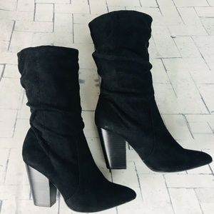 Report Indio Slouch Faux Suede Ankle Boot 6.5 NWOB